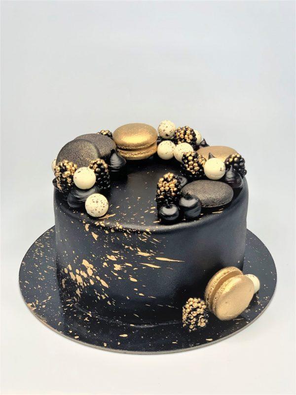 """Jubiliejinis tortas """"Juodas auksas"""""""