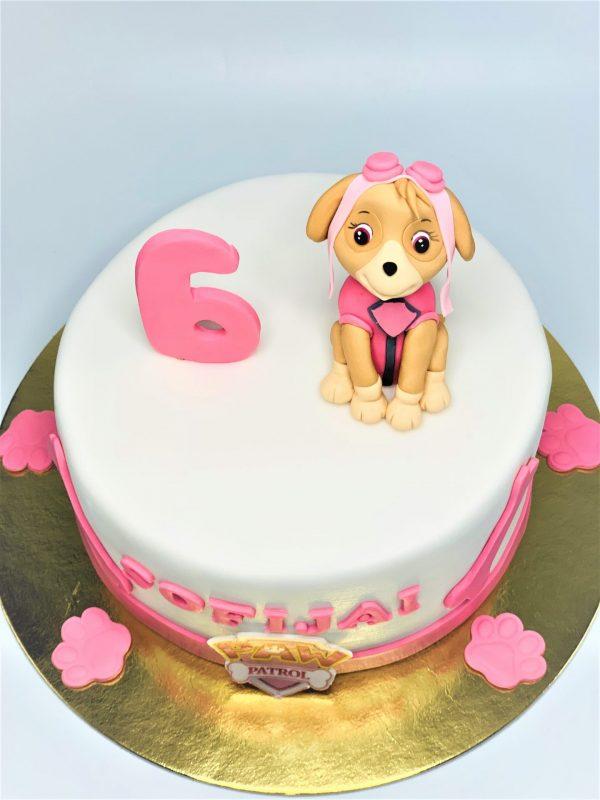 Vaikiškas tortas su šunyte patrule