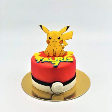 Vaikiškas tortas su pokemonu
