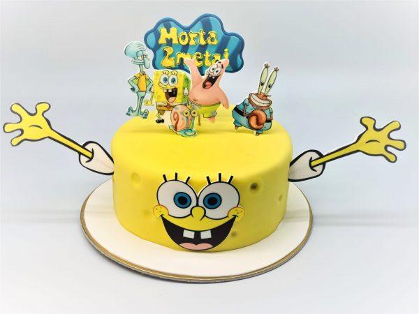 """Vaikiškas tortas """"Kempiniukas"""""""