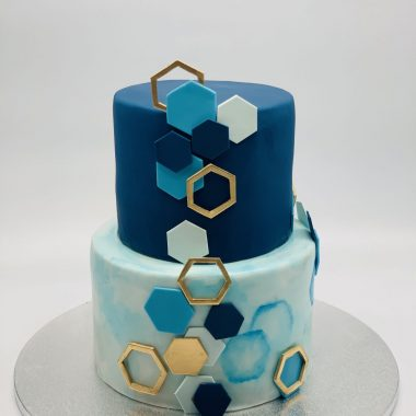 Vestuvinis mėlynas tortas