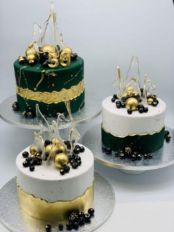 Jubiliejinis smaragdinis tortas