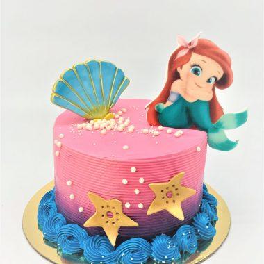 """Vaikiškas tortas """"Mažoji undinėlė"""""""
