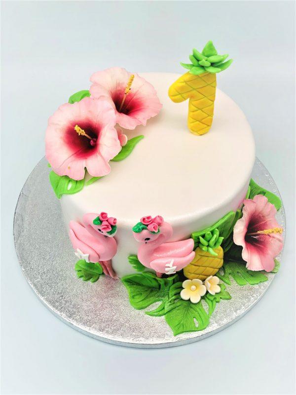 """Vaikiškas tortas """"Flamingai"""""""