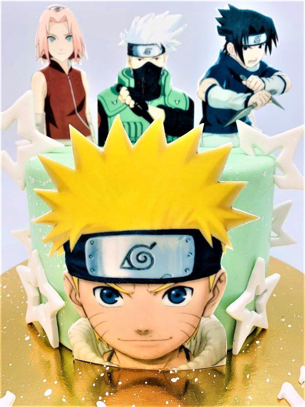 """Vaikiškas """"Naruto"""" tortas"""