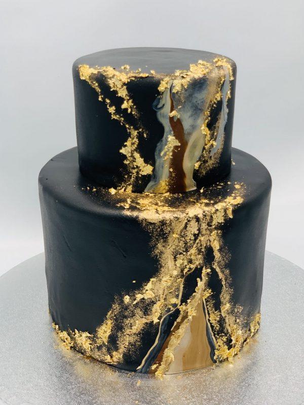 """Jubiliejinis tortas """"Juodas marmuras"""""""