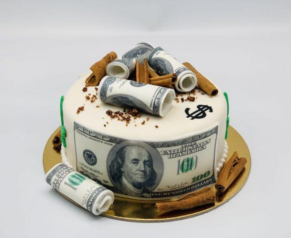 """Tortas """"Pinigų lietus"""""""