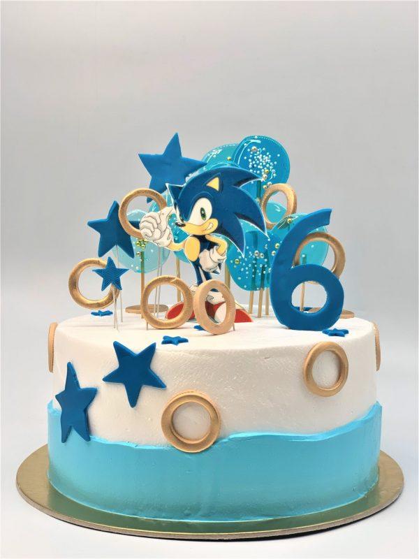 """Vaikiškas tortas """"Ežiukas Sonikas"""""""